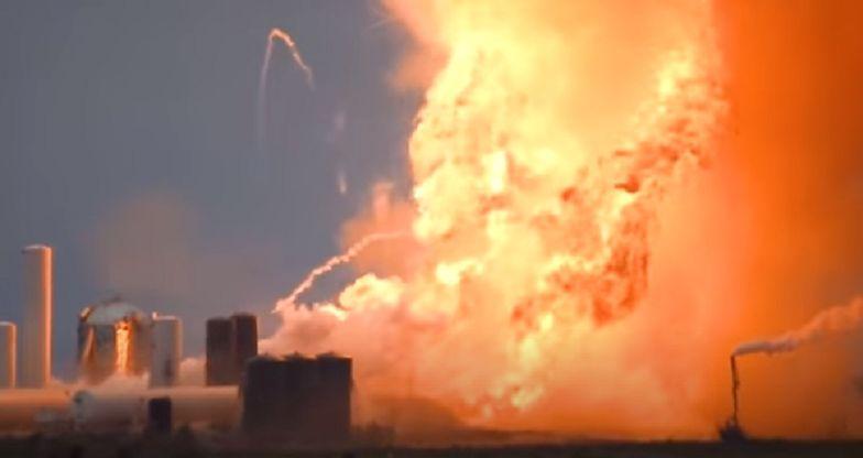 Prototyp rakiety Starship eksplodował podczas testów