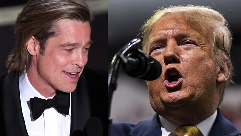 """Brad Pitt nie przejął się zbytnio krytyką Trumpa. """"Nie zamierza być małostkowy"""""""