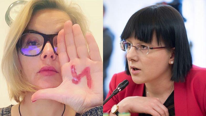 """Gniewna Monika Zamachowska krytykuje antyaborcyjne zapędy Kai Godek: """"Pójdzie pani DO PIEKŁA"""""""
