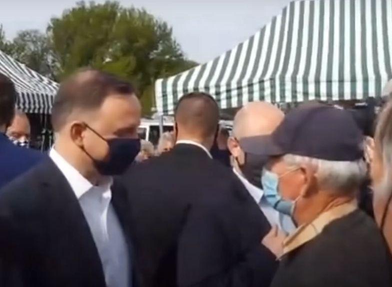 Andrzej Duda w Garwolinie tłumaczył się z cen śmieci