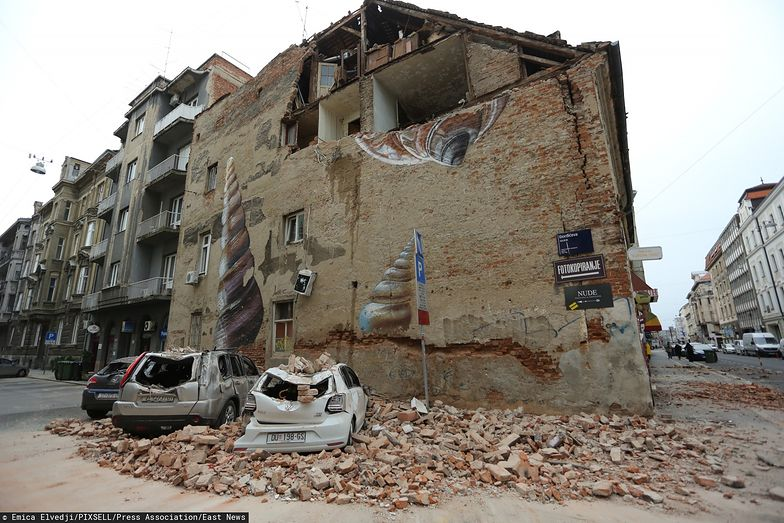 W niedzielę mieszkańców Zagrzebia obudziło trzęsienie ziemi