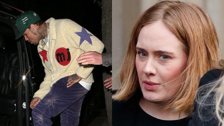 Adele zaprzyjaźniła się z... Chrisem Brownem? Zjawił się w jej domu w Londynie...