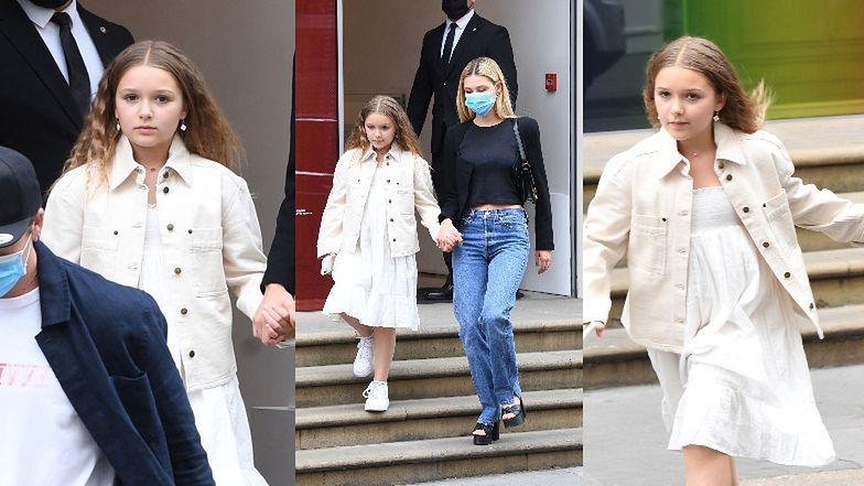 9-letnia Harper Beckham towarzyszy świeżo zaręczonemu Brooklynowi i jego ukochanej na luksusowych zakupach (ZDJĘCIA)