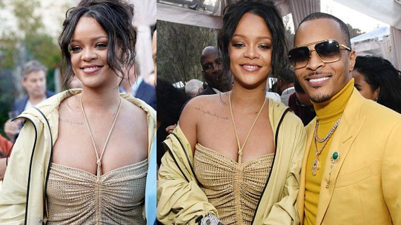 Figlarna Rihanna nie płacze po rozstaniu i z uśmiechem na twarzy imprezuje z kolegami z branży (FOTO)