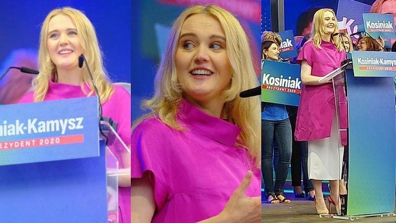 Paulina Kosiniak-Kamysz w 6. miesiącu ciąży wspiera męża na wiecu wyborczym w Opolu (FOTO)