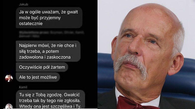 """Niewzruszony Janusz Korwin-Mikke komentuje słowa członków swojej partii o gwałcie: """"TROCHĘ PRZESADZILI"""""""