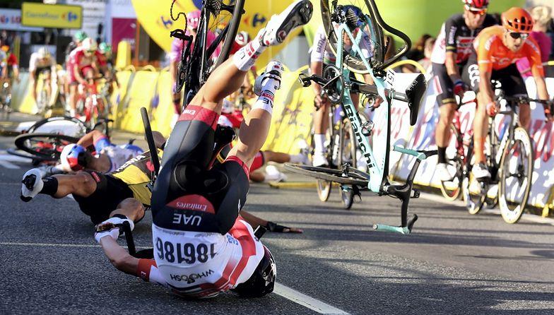 Kolarstwo. Tour de Pologne z pierwszym groźnym wypadkiem. Wyglądało to makabrycznie