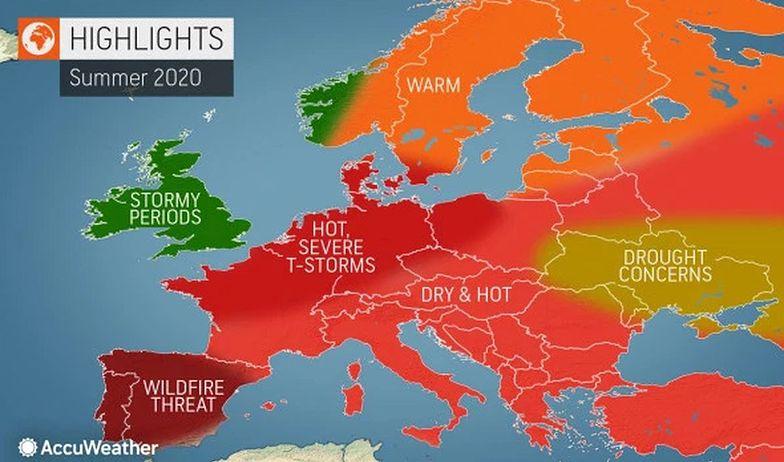Długoterminowa  prognoza pogody dla polski na czerwiec, lipiec i sierpień 2020 roku.