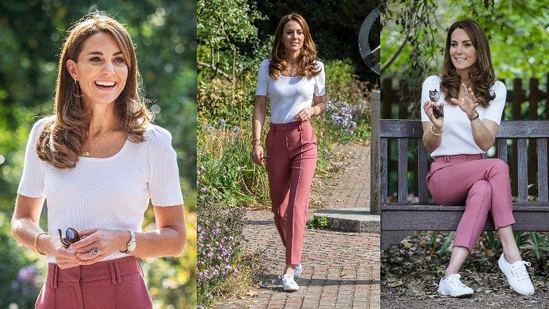 """""""Romantyczna"""" Kate Middleton w """"znoszonych"""" spodniach za 150 złotych wspiera matki w Londynie (ZDJĘCIA)"""