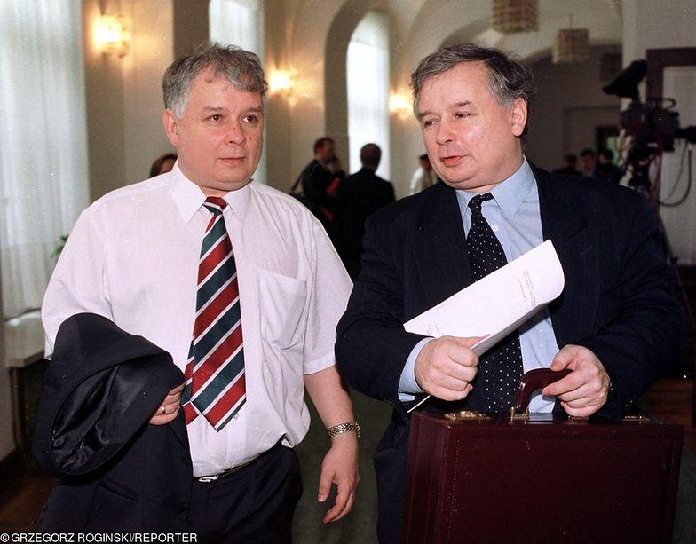 PiS został zarejestrowany 13 czerwca 2001 roku. Na zdjęciu założyciele partii: Lech i Jarosław Kaczyńscy