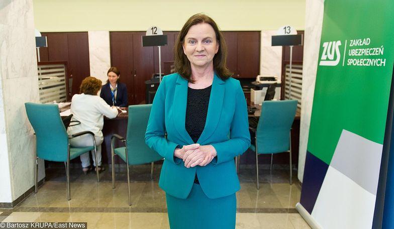 Gertruda Uścińska jest prezesem Zakładu Ubezpieczeń Społecznych.