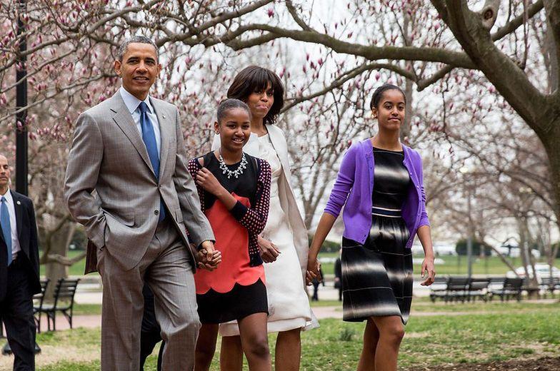Prezydent USA wraz z rodziną