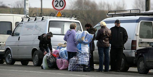 Ukraińscy uchodźcy na polskiej granicy