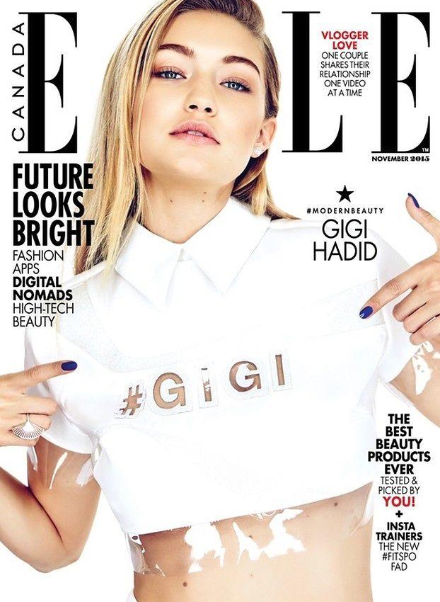 """Gigi Hadid """"twarzą przyszłości"""" w kanadyjskim """"Elle"""""""