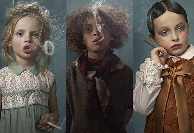 SZOKUJĄCA kampania z palącymi dziećmi! (ZDJĘCIA)
