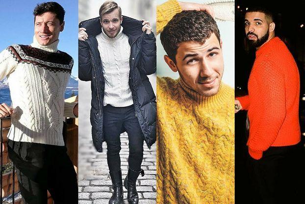 Wełniane swetry męskie - z czym łączą je celebryci?