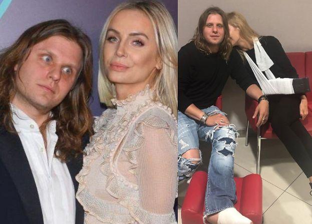 Agnieszka Woźniak-Starak też miała wypadek! Zapozowała z ręką na temblaku (FOTO)