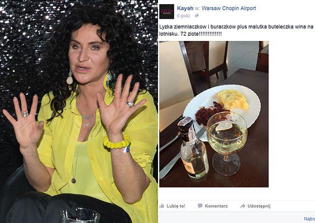 Kayah zszokowana cenami na warszawskim lotnisku (FOTO)