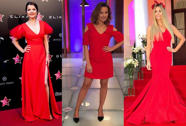 Czerwone sukienki wieczorowe w gorących stylizacjach gwiazd