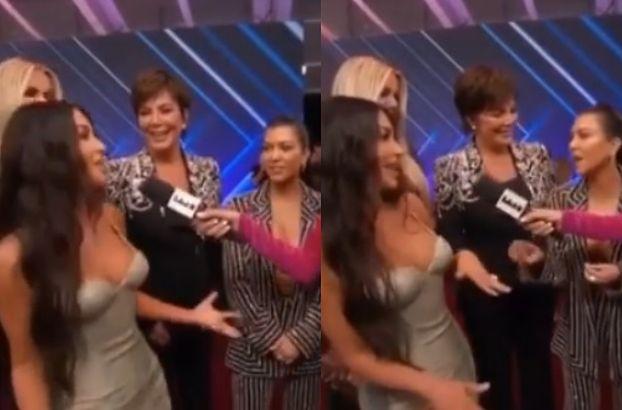 Kim i Kourtney Kardashian kłócą się podczas wywiadu na czerwonym dywanie (WIDEO)