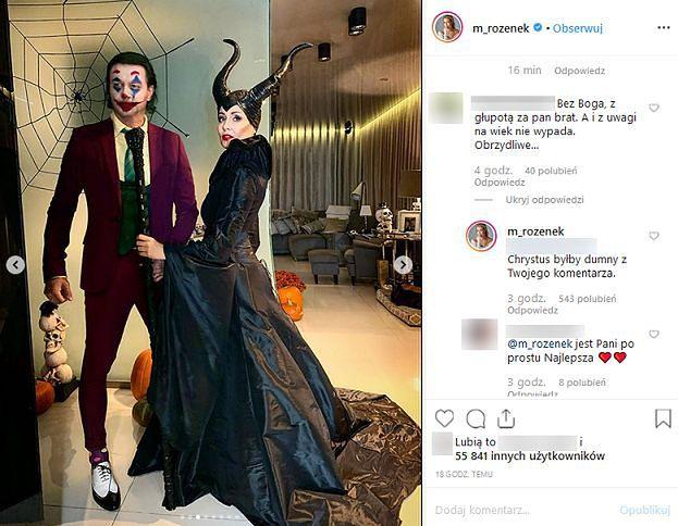 """Małgorzata Rozenek odpowiada internaucie na zarzuty o """"cmentarny lans"""": """"PRZESTAŃ SZCZEKAĆ"""""""