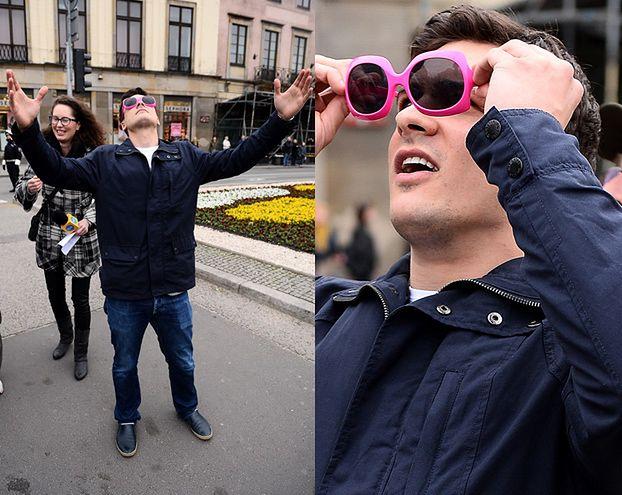 """Szczęśliwy Damięcki na marszu """"Orzeł Może""""! (FOTO)"""