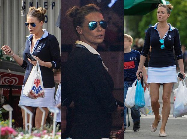 Małgorzata Rozenek robi zakupy na bazarku (ZDJĘCIA)