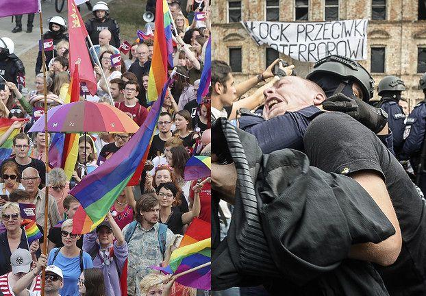 """Pierwszy Marsz Równości w Płocku! Różal pyta: """"CZYJA BĘDZIE DEMOKRACJA?"""" (ZDJĘCIA)"""