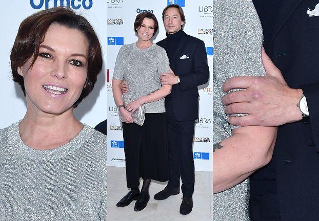 Niewierny narzeczony ściska ramię Felicjańskiej na imprezie. Dobra mina do złej gry? (FOTO)