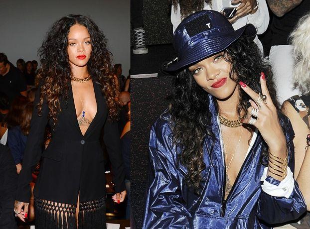 Rihanna BEZ STANIKA na New York Fashion Week! (ZDJĘCIA)