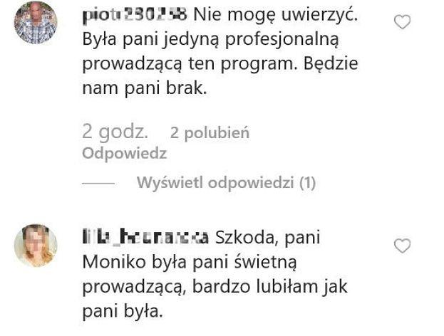 """Fani już TĘSKNIĄ za Moniką Zamachowską? """"Będzie nam pani brak"""""""