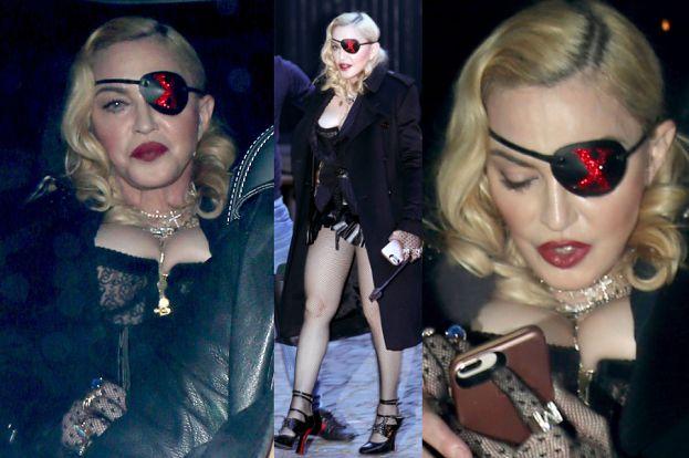 60-letnia Madonna w kabaretkach i gorsecie spaceruje po Londynie. Zmysłowa?