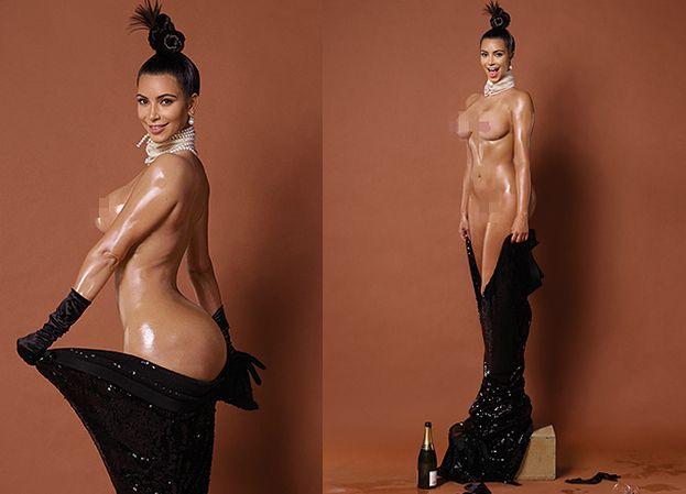 """Kim Kardashian pokazała WSZYSTKO! """"To mąż namówił mnie na sesję!"""""""