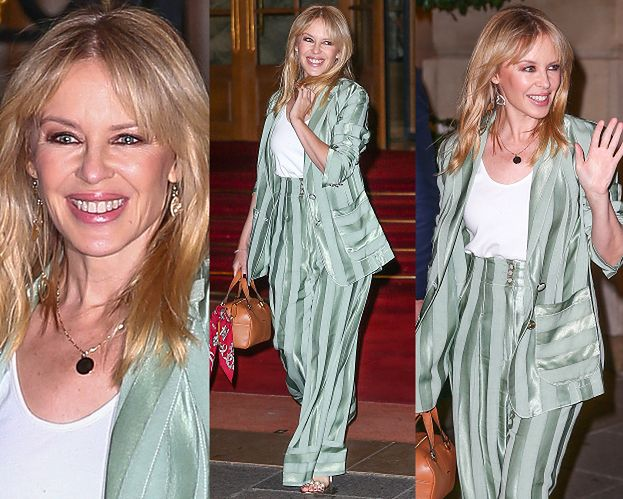 Promienna Kylie Minogue pozdrawia fanów