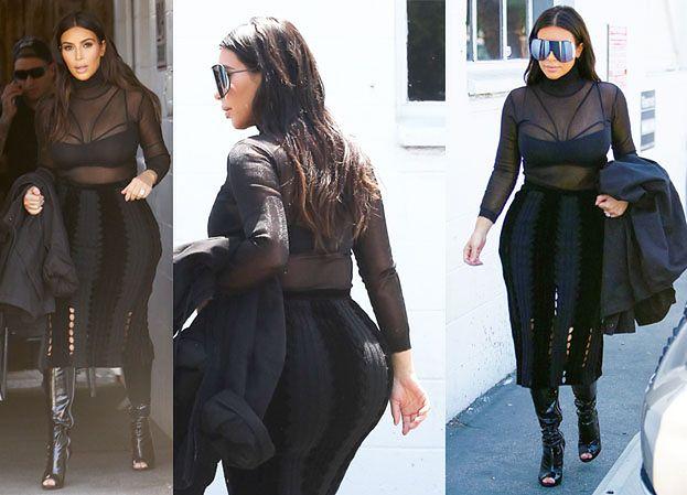 """Kim o Kanye: """"Obiecałam mu, że nie będę odchudzać pośladków"""""""