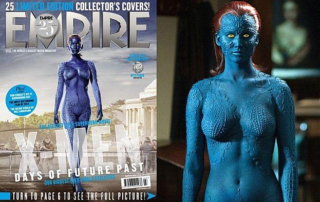 Półnaga, niebieska Jennifer Lawrence!