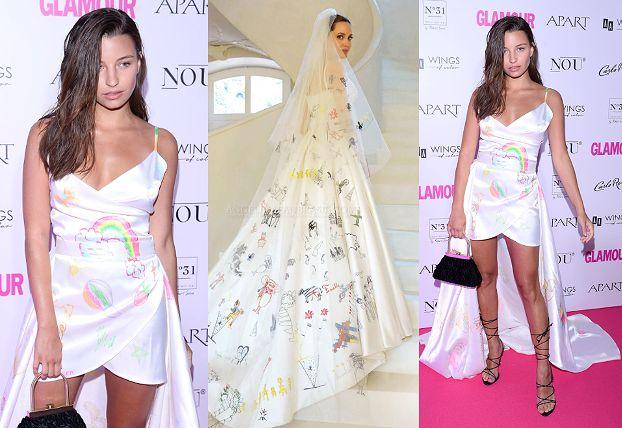 """Julia Wieniawa paraduje w """"dziecinnej"""" kreacji na gali """"Kobieta Roku Glamour"""". Chciała być jak Angelina Jolie? (ZDJĘCIA)"""