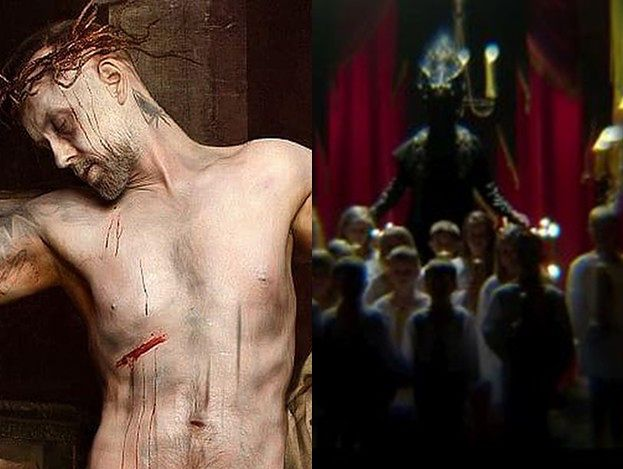 Nergal znowu prowokuje. W nowym teledysku udaje ukrzyżowanego Jezusa i pluje krwią... (WIDEO)