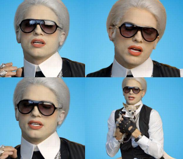 Ashton Kutcher parodiuje Karla Lagerfelda (WIDEO)