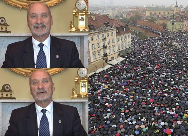 """Macierewicz w TV Trwam: """"Czarny Protest to seans nienawiści, manifestantki to przeciwnicy Polski"""""""