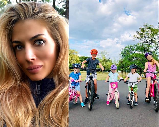 """Izabella Łukomska-Pyżalska pokazała zdjęcie z wyprawy rowerowej z SZÓSTKĄ DZIECI. Fani: """"Cały peleton!"""""""