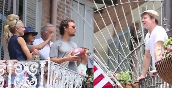 Brad Pitt i Matthew McConaughey rzucają sobie PIWO PRZEZ ULICĘ!