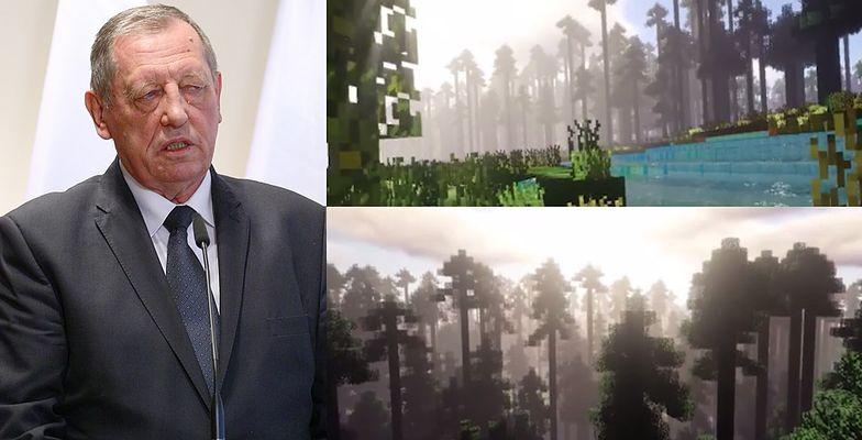 """HIT SIECI: Puszcza Białowieska przeniesiona do Minecraft! """"Jest zagrożona. Stworzyliśmy jej kopię"""""""