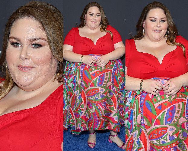 Chrissy Metz wita wiosnę we wzorzystej sukience