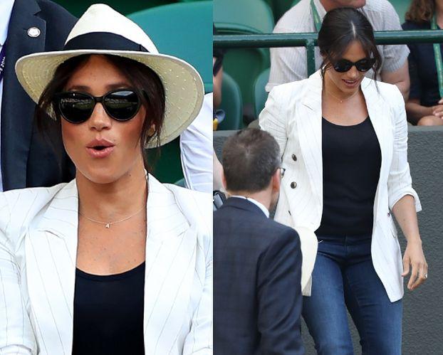 Meghan Markle pojawiła się na Wimbledonie! Kibicowała Serenie Williams (FOTO)