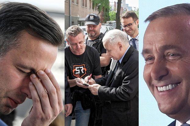 Gorączka przedwyborcza: Kaczyński rozdaje autografy, Nowacka pokazuje nogi, Schetyna cieszy się... (FOTO)