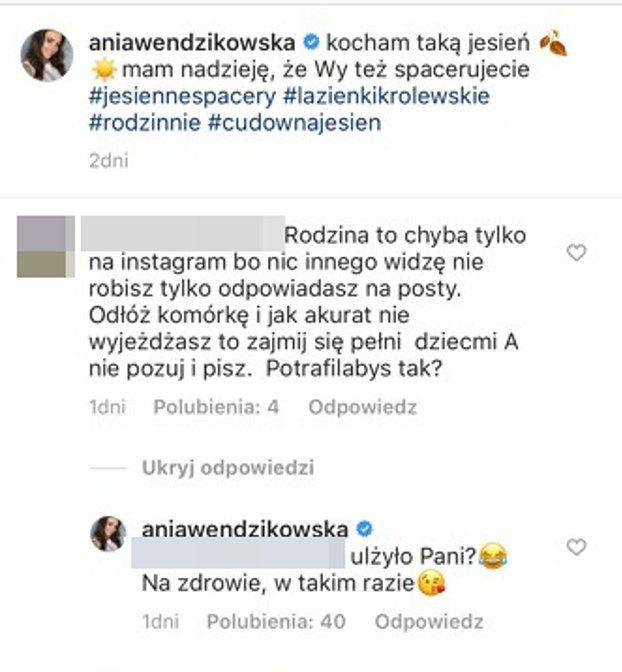 """Internautka ATAKUJE Annę Wendzikowską: """"Zajmij się dziećmi, a nie tylko POZUJ I PISZ"""""""
