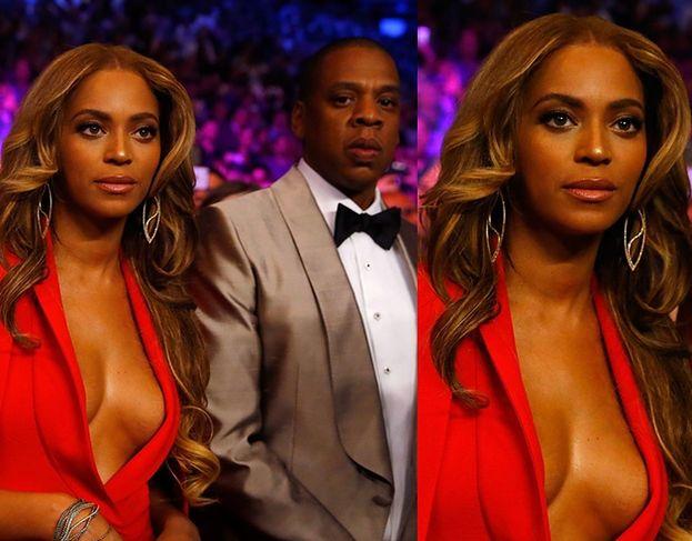 Piersi Beyonce na walce Mayweather-Pacquiao (ZDJĘCIA)