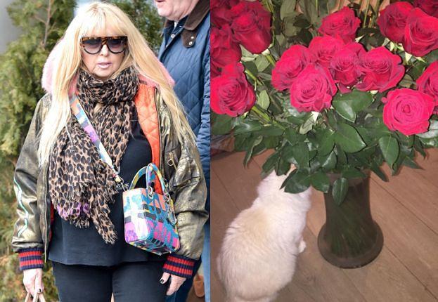 """Mąż przysłał Maryli różę na rocznicę. """"Kontakty mamy dobre"""""""