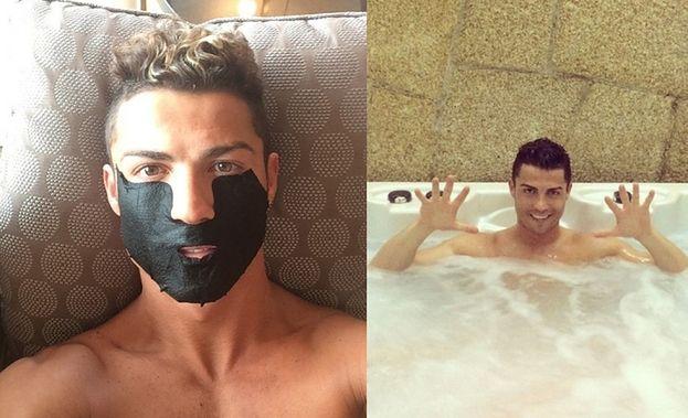 Cristiano Ronaldo chwali się... selfie w maseczce! (FOTO)